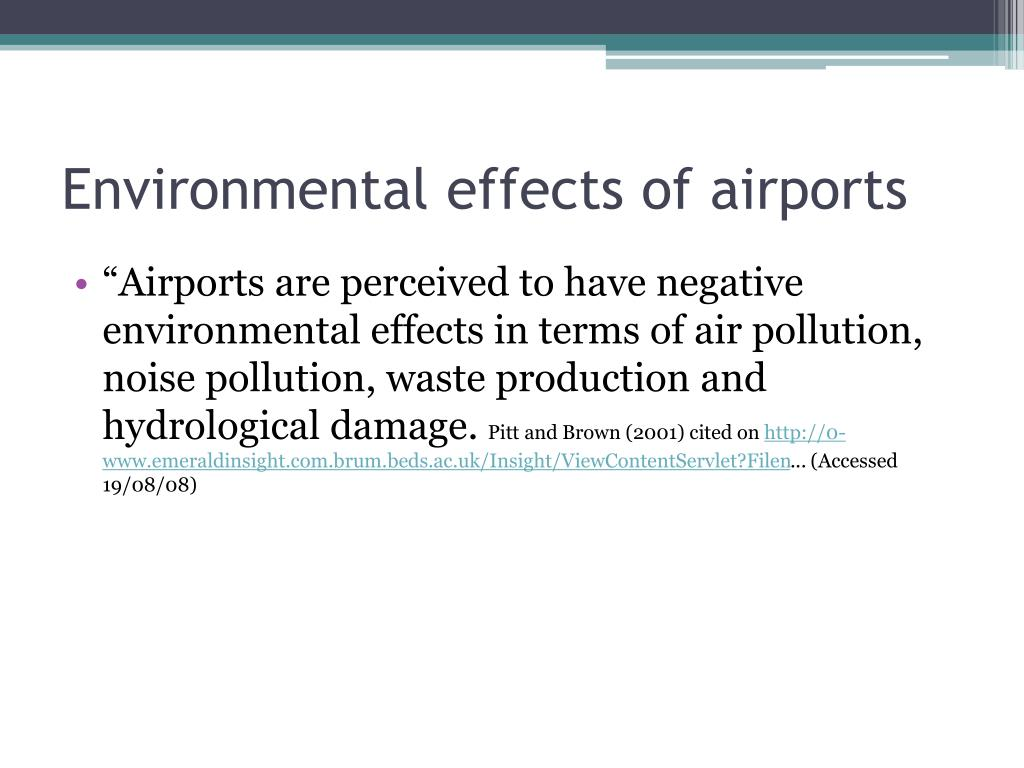 Environmental effects of airports