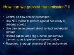 how can we prevent transmission ii