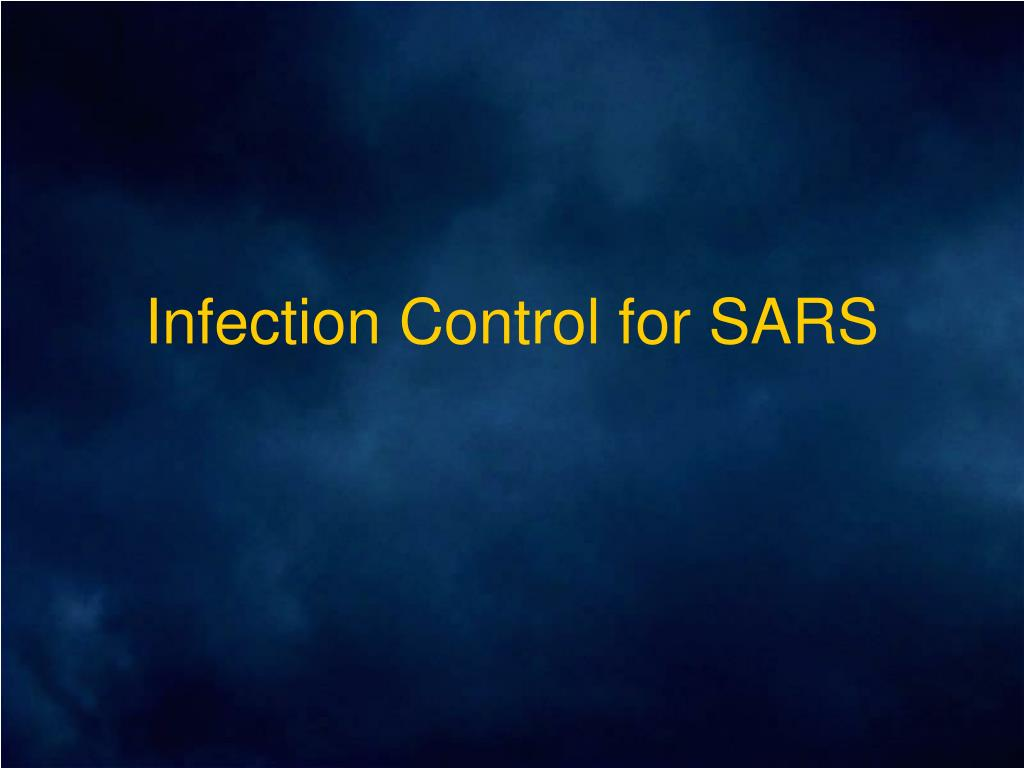 infection control for sars l.