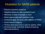 intubation for sars patients