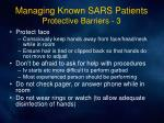 managing known sars patients protective barriers 3