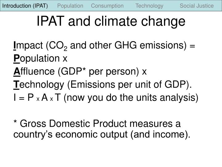 Ipat and climate change