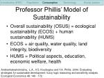 professor phillis model of sustainability