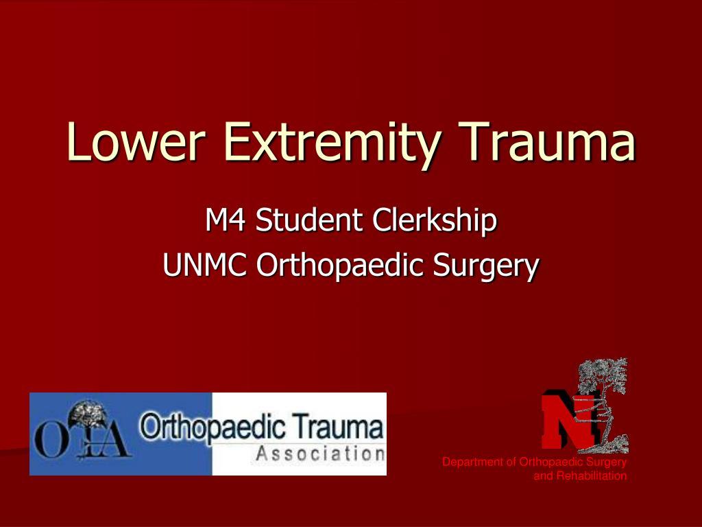 lower extremity trauma
