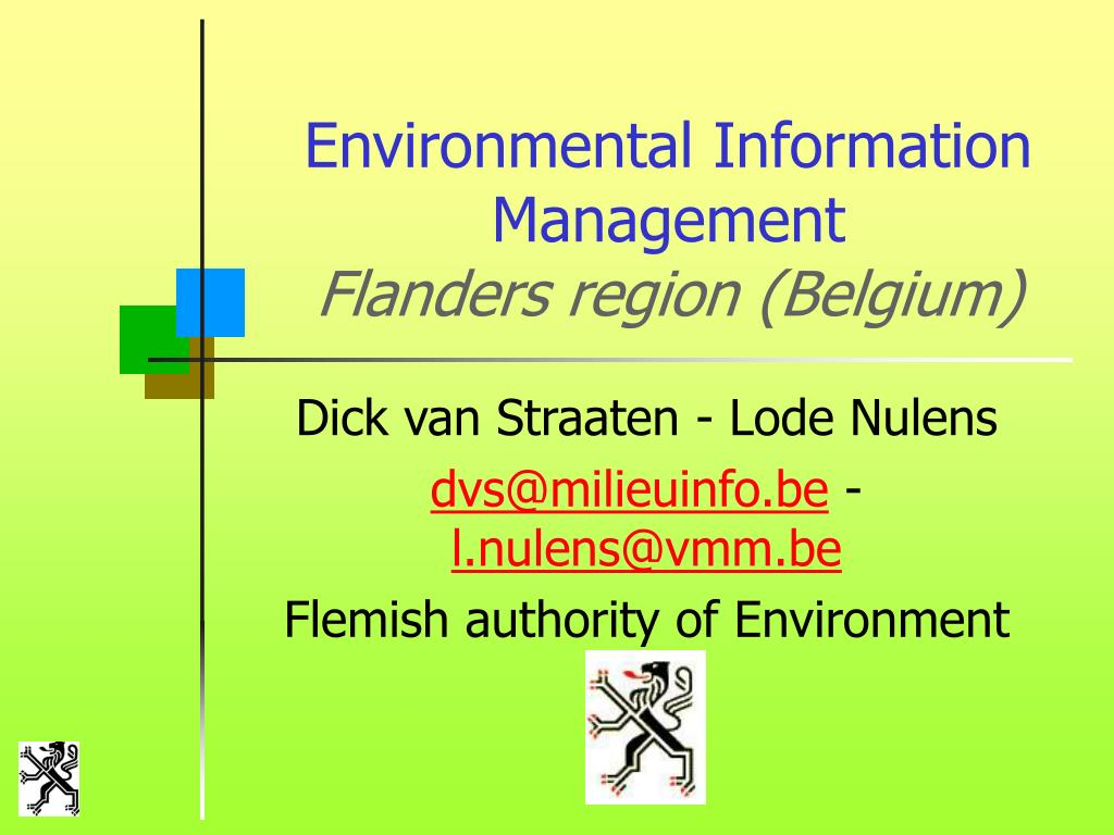 environmental information management flanders region belgium l.