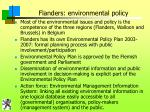 flanders environmental policy