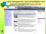 land management land consolidation and manure management www vlm be