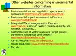 other websites concerning environmental information