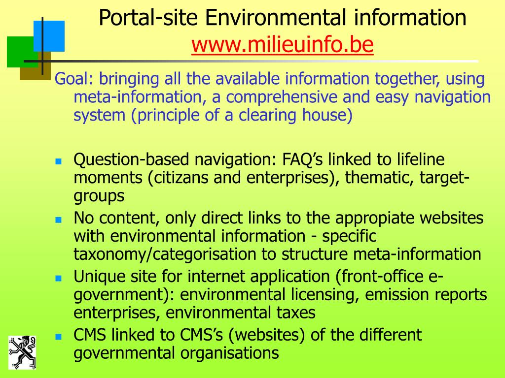 Portal-site Environmental information