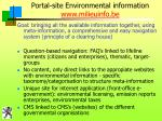 portal site environmental information www milieuinfo be