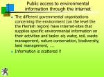 public access to environmental information through the internet