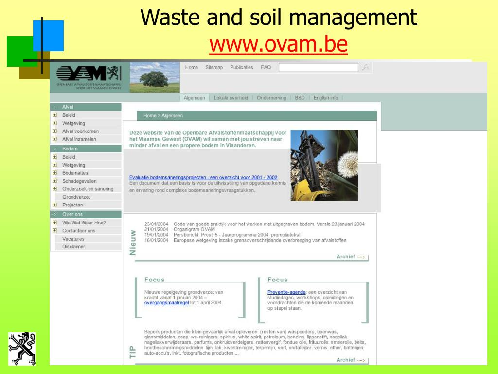 Waste and soil management