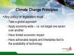 climate change principles