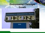 environmental challenges growth
