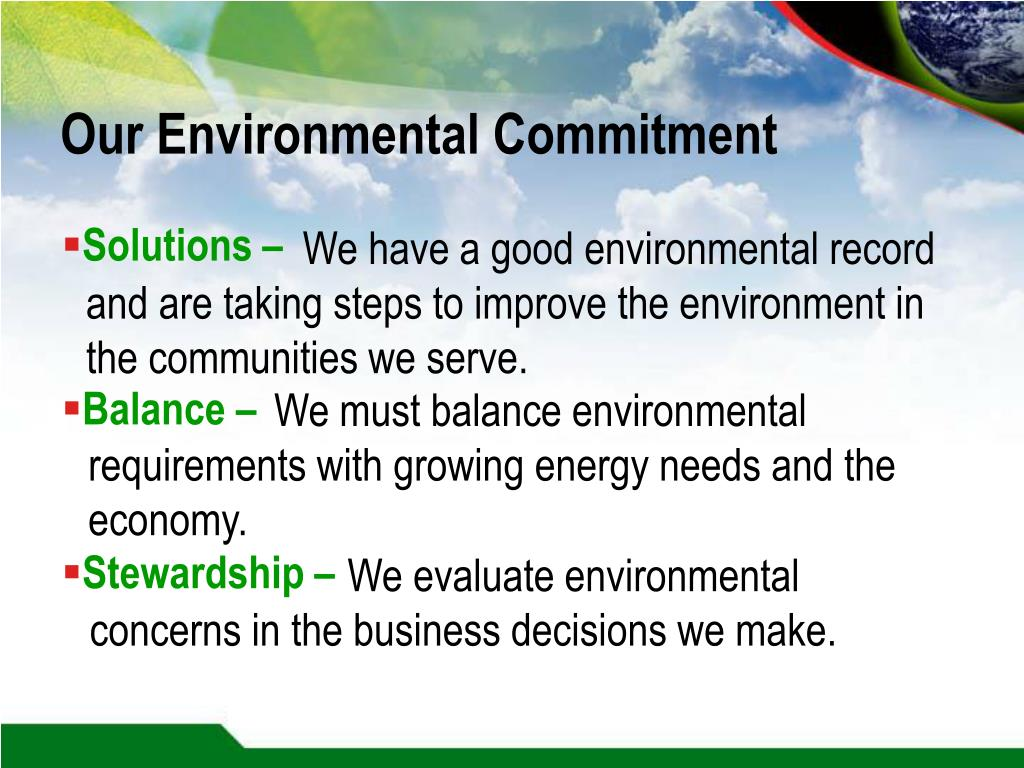 Our Environmental Commitment