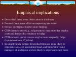 empirical implications