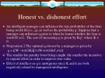 honest vs dishonest effort