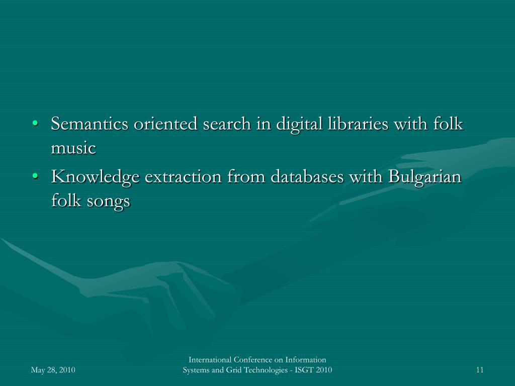 Semantics oriented search in digital libraries with folk music