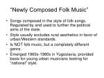 newly composed folk music