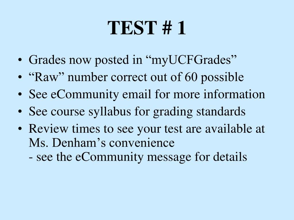 test 1 l.
