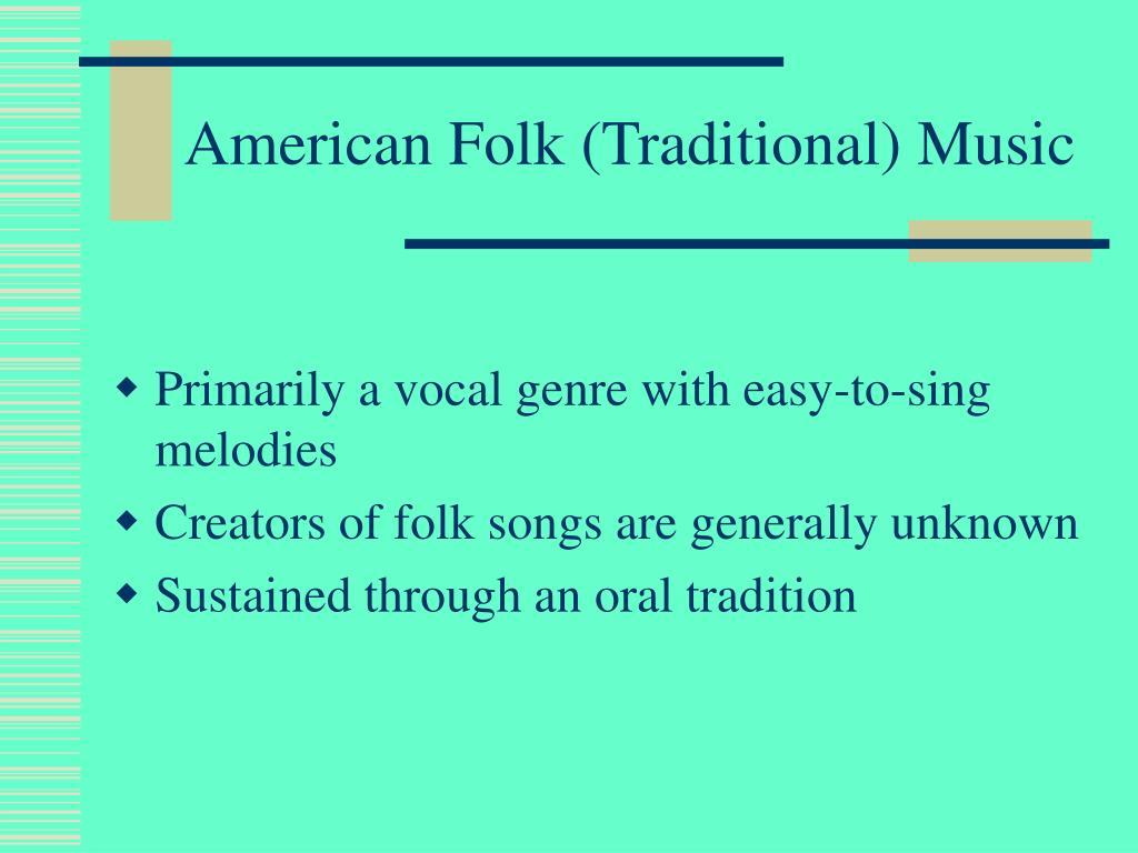 American Folk (Traditional) Music