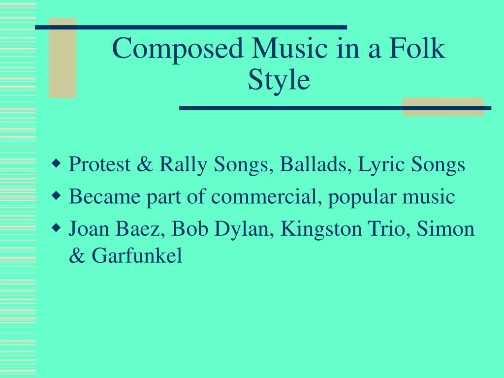 Composed Music in a Folk Style