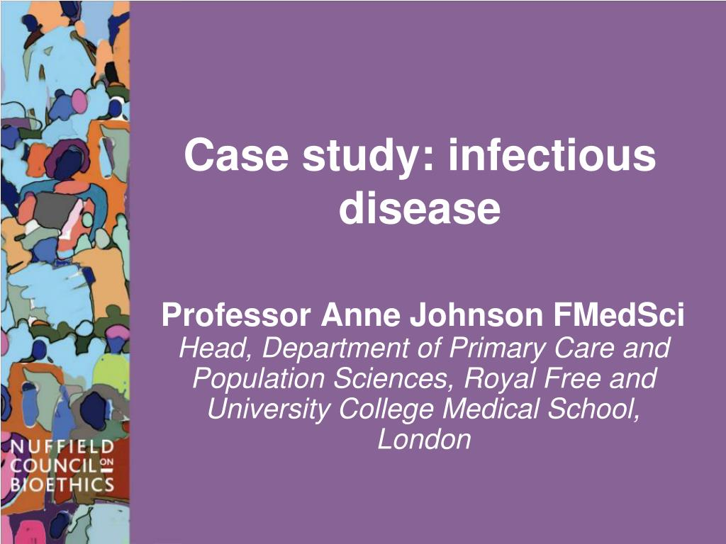 case study of infection control mr jones Making the business case for infection prevention and control is a critical murphy and whiting point to a recent study of 169 million admissions from 77.