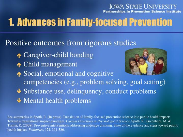 1 advances in family focused prevention