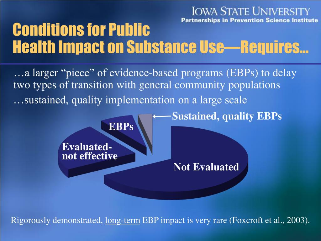 Sustained, quality EBPs
