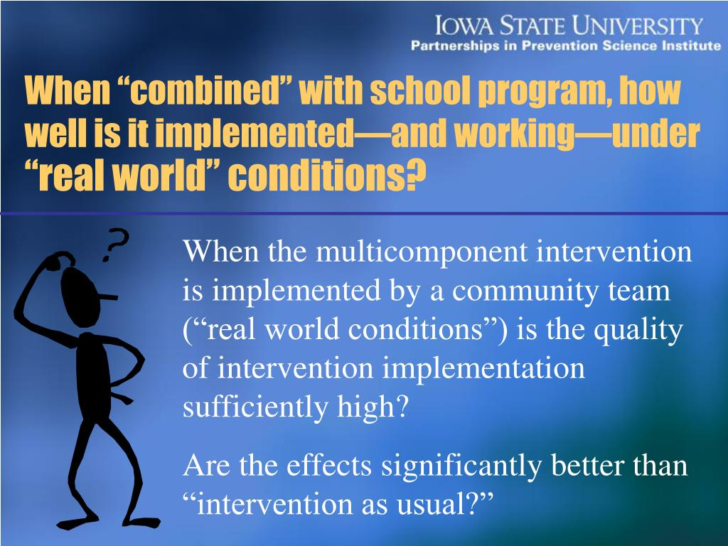 """When """"combined"""" with school program, how well is it implemented—and working—under"""