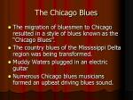 the chicago blues
