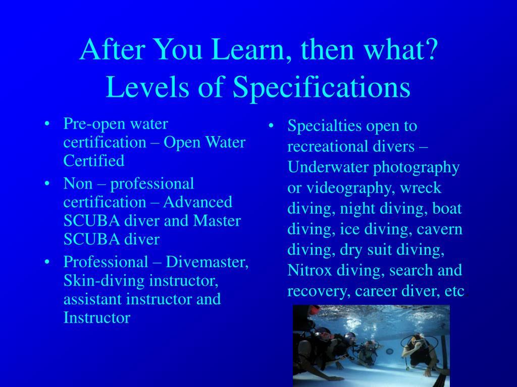 Pre-open water certification – Open Water Certified