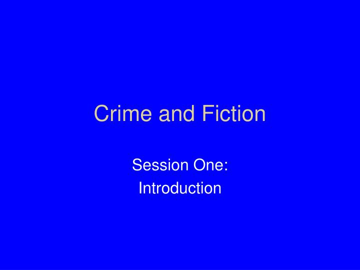 crime and fiction n.