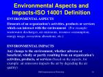 environmental aspects and impacts iso 14001 definition