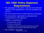 iso 14001 policy statement requirements