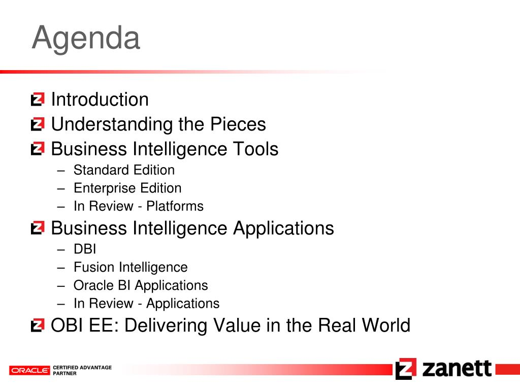 PPT - Making Sense of Oracle's Business Intelligence Tools