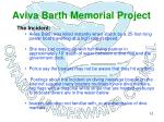 aviva barth memorial project7