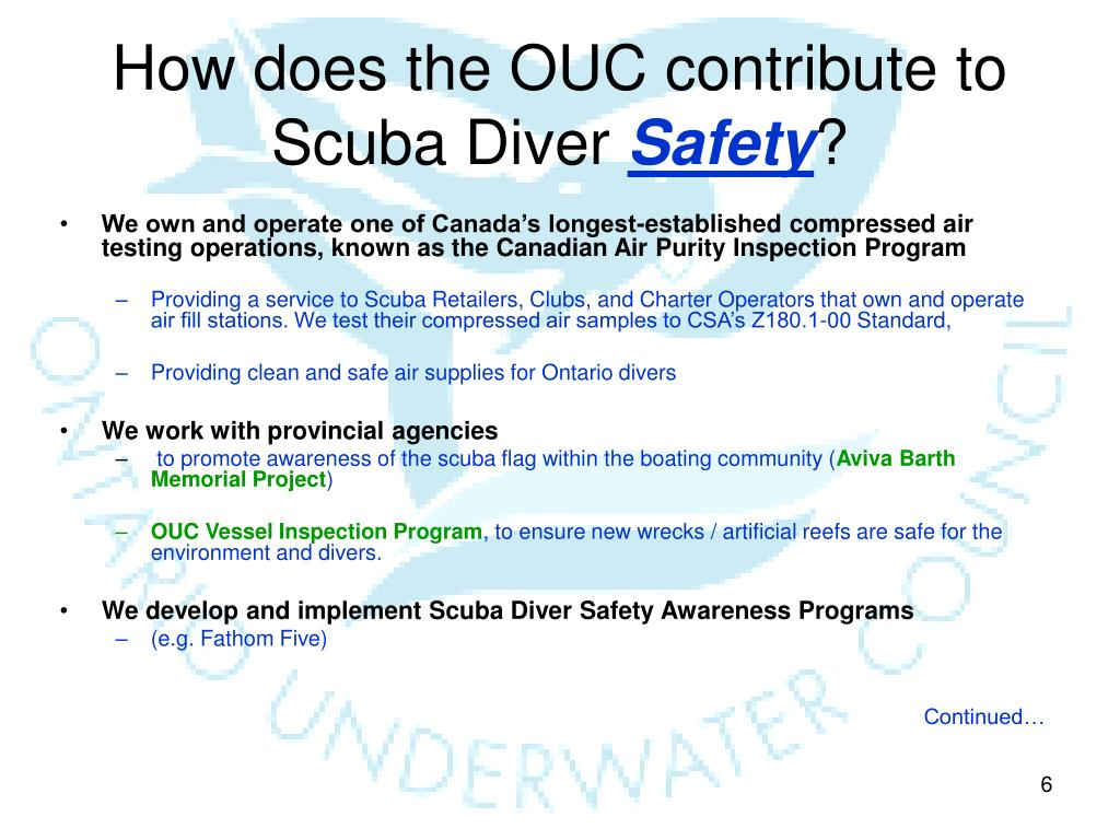 How does the OUC contribute to Scuba Diver