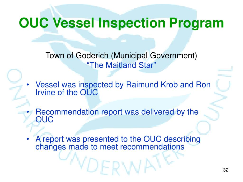 OUC Vessel Inspection