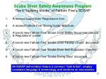scuba diver safety awareness program the 6 building blocks of fathom five s sdsap