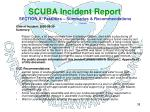 scuba incident report section a fatalities summaries recommendations