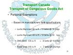 transport canada transport of dangerous goods act26