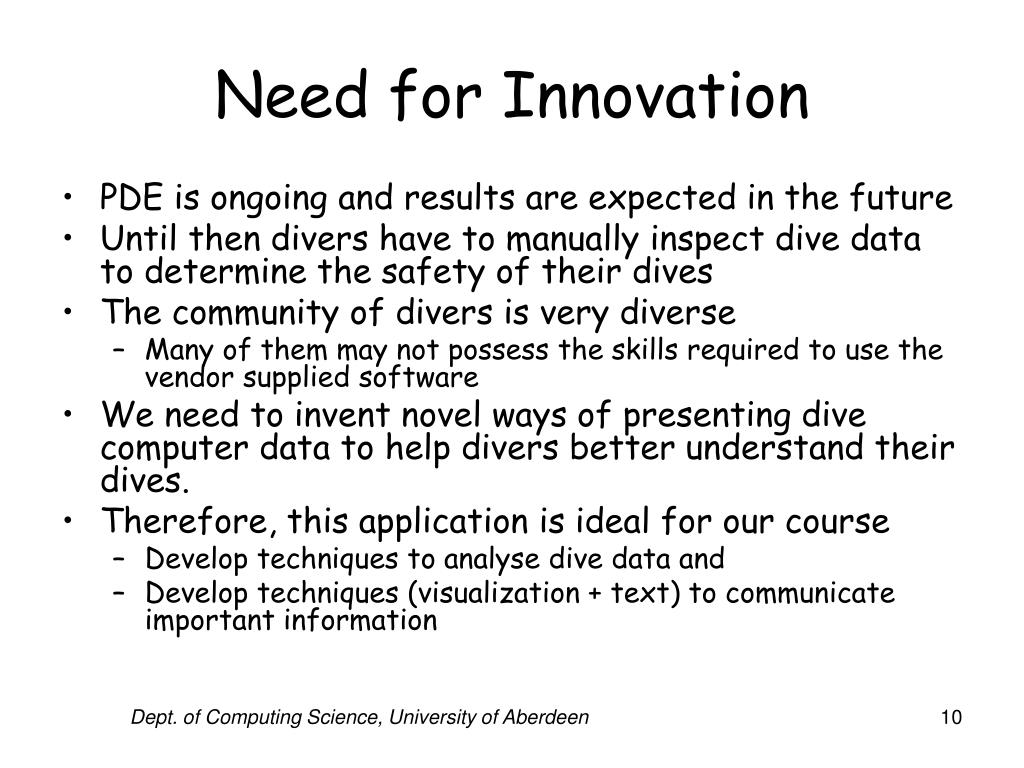 Need for Innovation