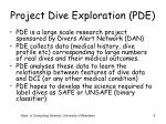 project dive exploration pde