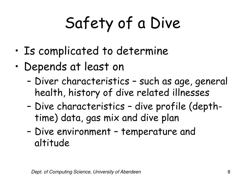 Safety of a Dive