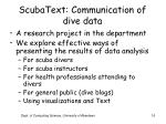 scubatext communication of dive data