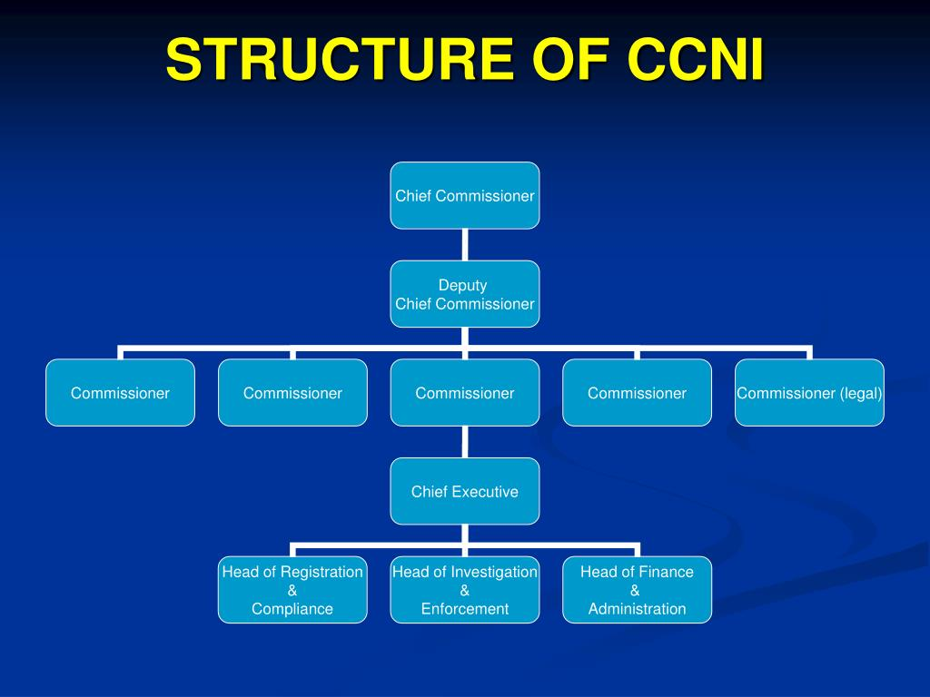 STRUCTURE OF CCNI