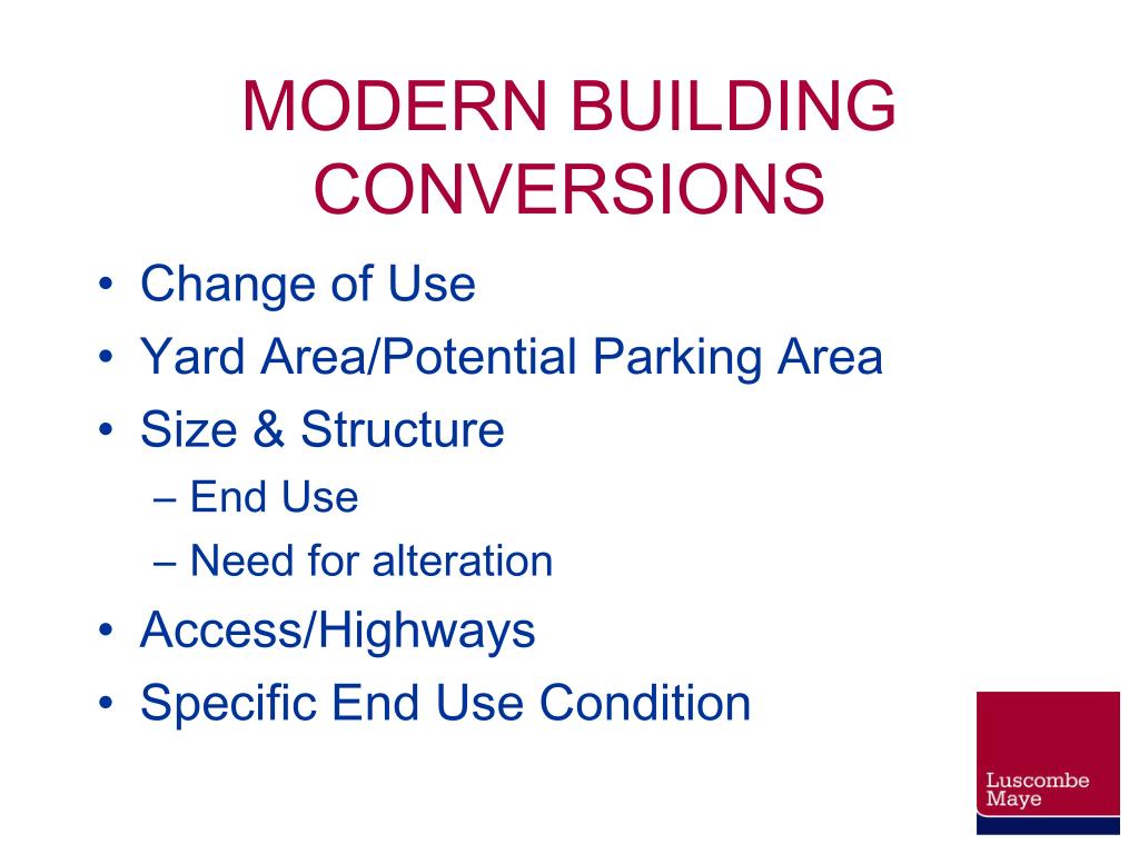 MODERN BUILDING CONVERSIONS