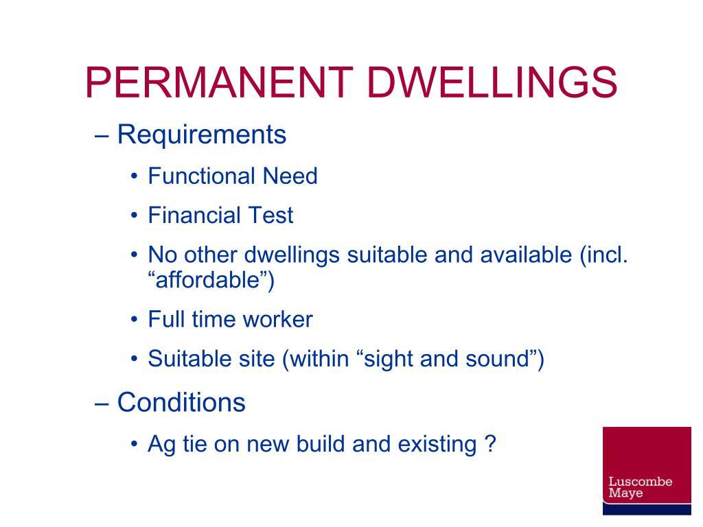 PERMANENT DWELLINGS