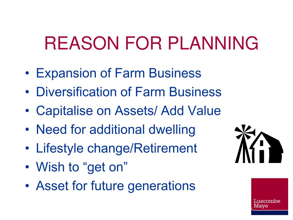 REASON FOR PLANNING